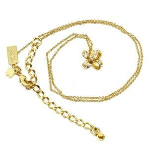 KATE SPADE~pave pinwheel~PENDANT NECKLACE~GOLD